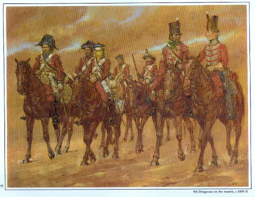 4th Dragoons on the March